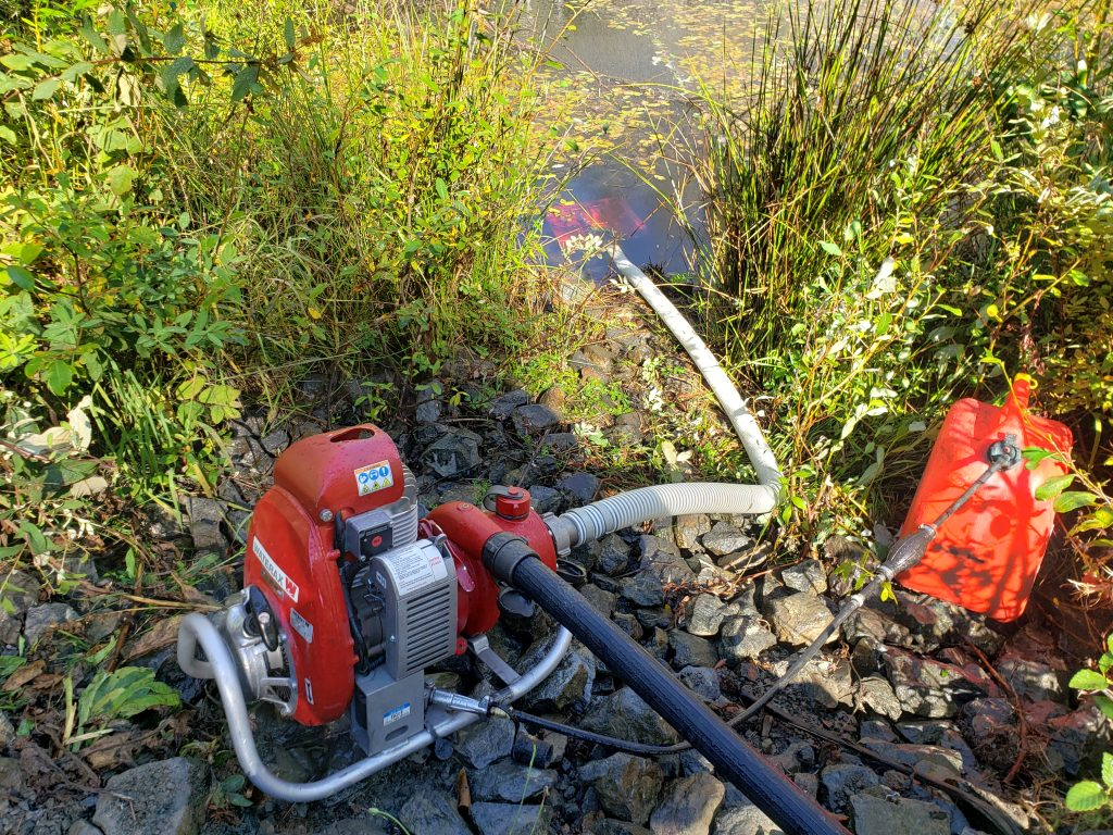 Typical rural water source for a Fire Ceptor